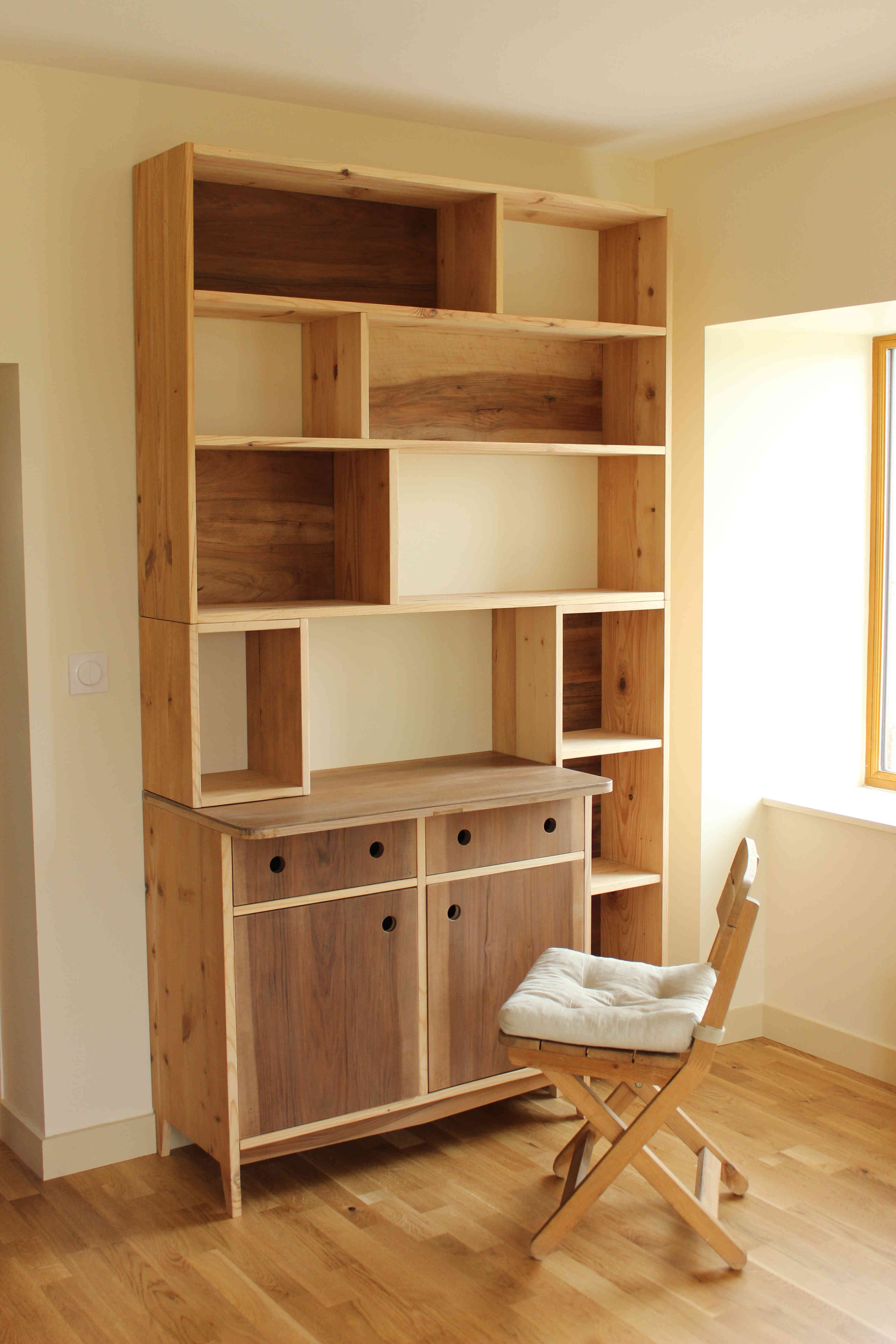 biblioth que modulable pour ranger bd livres et classeurs. Black Bedroom Furniture Sets. Home Design Ideas