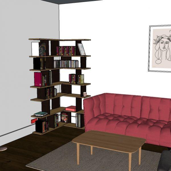 Bibliothèque d'angle
